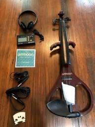 Título do anúncio: Violino Eletric 4/4 Ativo Ammoon Maple Madeira Orquestra Ccb a paz