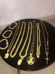 Jóias de moeda antiga banhada a ouro