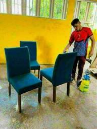Higienização lavagem a seco de suas cadeiras