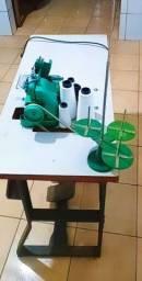 Máquina de Costura Overlok Buterfly Semi Industrial Completa C/Mesa