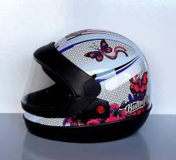 Título do anúncio: Hobbies Capacete Moto Feminino Floral/Borboleta Automático Protork Coleções