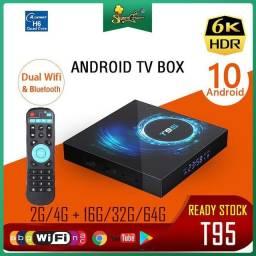 Tv Box T95 Android 10 Original Nova Entrega e Instalação Grátis