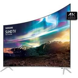 "Smart TV Led Curva 55"" Samsung Ultra HD 4K Pontos Quânticos"