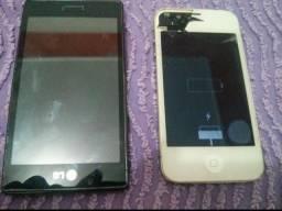Iphone 4 + LG (ambos estritamente para aproveitar peças)