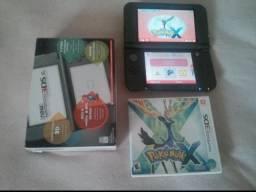Nintendo new 3ds xl + caixa + pokemon