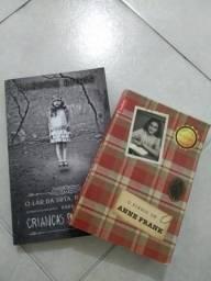 Livros Crianças peculiares e o diario Anne frank