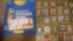 Album Figurinhas Copa 2018 Russia + 38 Figurinhas Douradas + 141 Figurinhas Jogadores Entr