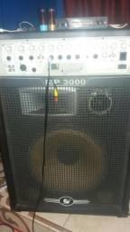 Caixa MP 3000 amplificadar MUITO BOA SOM POTENTE