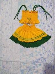 Vestidos de bebê do Brasil recém nascido a 3 anos