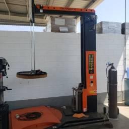 Evolvedora strechadeira paletizadora semi-automatica de filme stretch