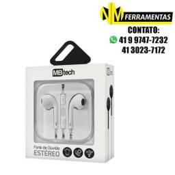 Fone De Ouvido Estéreo Com Microfone 3.5mm Mb53095 Mb Tech