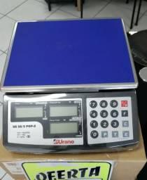 Balança urano 20kg com inmetro e bateria (nova) Alecs