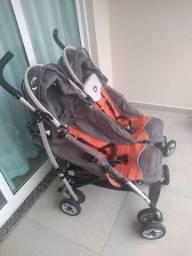 Vende-se carrinho para gêmeos usado marca chicco