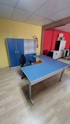 Mesa em L, conjunto de escritório, armário.