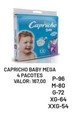 Kit 4 Pacotes Fralda Capricho Mega Baby Atacado