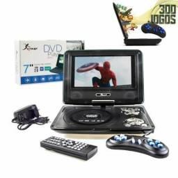 Dvd Portátil 7 Polegadas USB/FM Completo