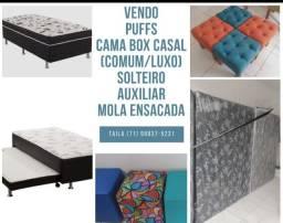 Cama Box/ Puffs