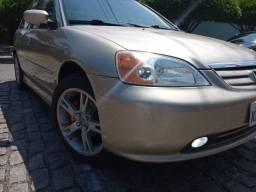Honda Civic LX Autom - 3o dono - Impecavel - Total Revisado - Manual Prop. Nota Fiscal