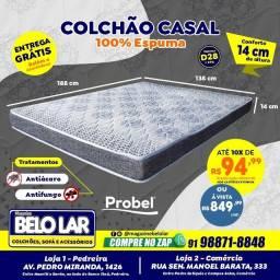 Colchão Casal De Espuma, Compre no zap *