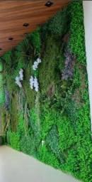 Jardim vertical de plantas permanentes