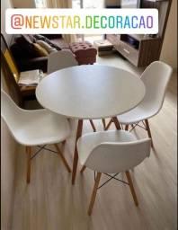 Título do anúncio: Conjunto Eiffel mesa 90cm + 4 cadeiras