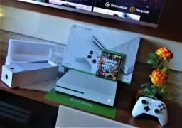 R$1499 ou 12X R$138 - Xbox one S 1TB caixa completa- Zaguini Games +GTA. midia fisica