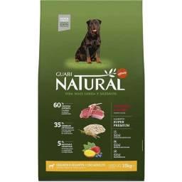 Ração para Cães Adultos Guabi Natural R. Gigantes Sabor Cordeiro e Aveia 15Kg