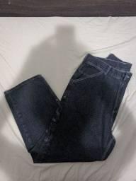 Calça jardineira jeans Class original tamanho 42