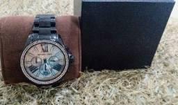 Relógio feminino Michael kors, Preto Cravejado