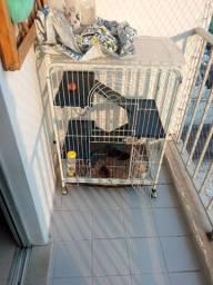 Título do anúncio: Gaiola luxo habitat 3 andares (furão/coelho/porquinho da índia/chinchila/ roedores)