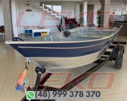 Barco Pesca Alumínio PetyBrazil Pety 500S Apenas Barco!