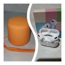 Kit fone i12 ou i13 + caixinha de som Bluetooth