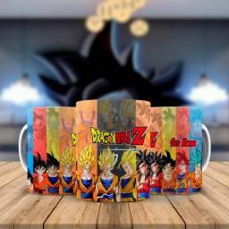 Goku Caneca Super Saiyajins Blue SSJ4 SSJ1 Personalizada com nome