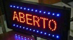 PLACA LETREIRO LED LUMINOSO QUADRADO