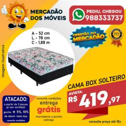 Cama Box Solteiro (Base+Colchão Espuma D20) Entrega Grátis
