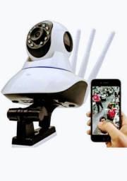 Câmera ip três antenas.(já deixamos funcionando com seu celular)