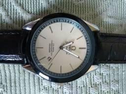 Relógio Ômega seamaster branco pulseira preta