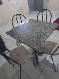 Título do anúncio: Vendo essa mesa de mármore 4 cadeiras