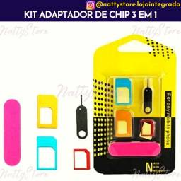 Kit adaptador de chip 3 em 1