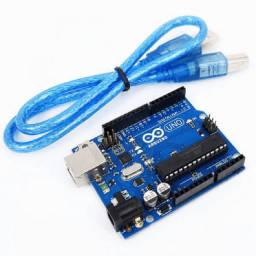 Arduino Uno R3 Dip ATMega 16U2 Mega328P com cabo USB