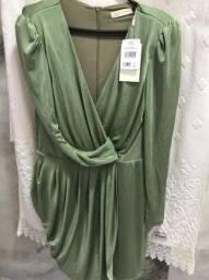 Vestido novo verde Nati Vozza