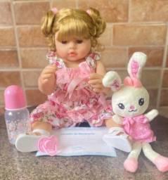 Título do anúncio: Boneca bebê Reborn toda em Silicone loira Nova (aceito cartão)
