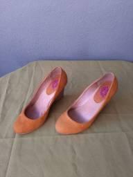 Sapato Mostarda Anabela