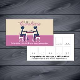 Cartão Fidelidade Frente colorido e verso preto ( 4x 1)