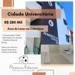 Otimo Apartamento no Cidade Universitaria, 3 Quartos e com Area de Lazer na Cobertura!
