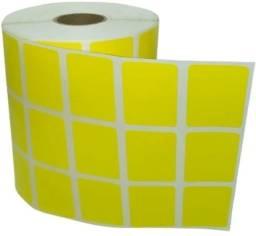 Título do anúncio: rolo etiqueta adesiva 33x22 mm 3 colunas amarela com 4.000un.