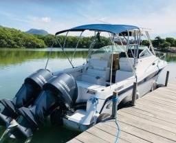 Lancha Fishing Raptor 280wa - Parelha Yamaha 4T 200hp - 2013 Impecável e Revisada - 2013