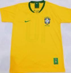 Camisas Brasil 2018, a pronta entrega