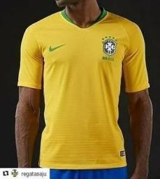 Camisa Seleção Brasileira amarela 2018