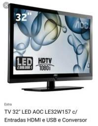 Tv 32 led com conversor digital